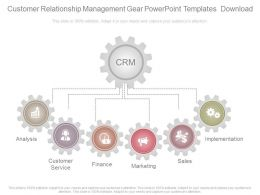 Customer Relationship Management Gear Powerpoint Templates Download