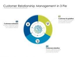 Customer Relationship Management In 3 Pie
