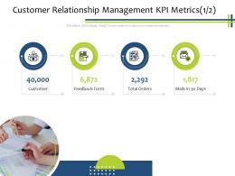 Customer Relationship Management KPI Metrics Customer CRM Process Ppt Powerpoint Presentation Infographics Shapes