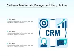 Customer Relationship Management Lifecycle Icon