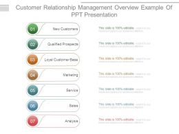 Customer Relationship Management Overview Example Of Ppt Presentation
