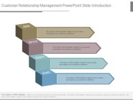 Customer Relationship Management Powerpoint Slide Introduction
