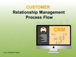 Customer Relationship Management Process Flow Powerpoint Presentation Slides