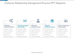 Customer Relationship Management Process Ppt Diagrams