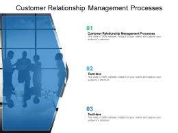 Customer Relationship Management Processes Ppt Powerpoint Presentation Slides Design Cpb