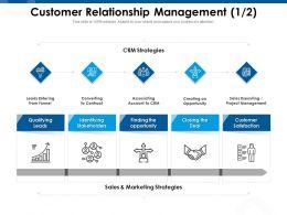 Customer Relationship Management Qualifying Ppt Powerpoint Presentation Show Background Designs