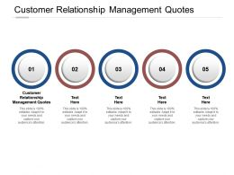 Customer Relationship Management Quotes Ppt Powerpoint Presentation Icon Inspiration Cpb