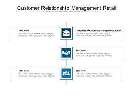 Customer Relationship Management Retail Ppt Powerpoint Presentation Slides Cpb