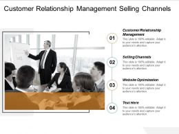 Customer Relationship Management Selling Channels Website Optimization Cpb