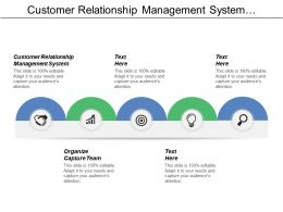 Customer Relationship Management System Organize Capture Team Solution Customer