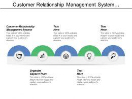 Customer Relationship Management System Organize Capture Team Solution Customer