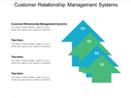 Customer Relationship Management Systems Ppt Powerpoint Presentation Infographics Structure Cpb