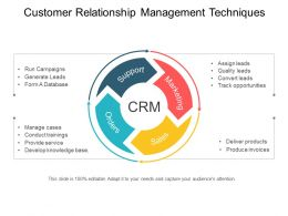 Customer Relationship Management Techniques Powerpoint Templates Microsoft