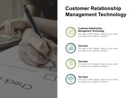 Customer Relationship Management Technology Ppt Powerpoint Presentation Model Cpb