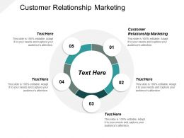 Customer Relationship Marketing Ppt Powerpoint Presentation Infographic Template Outline Cpb