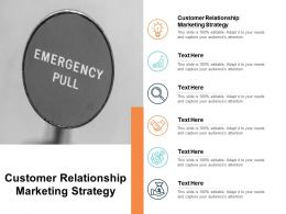 Customer Relationship Marketing Strategy Ppt Powerpoint Presentation Visual Aids Professional Cpb