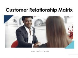 Customer Relationship Matrix Satisfaction Level Product Margin Purchase Frequency