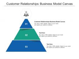 Customer Relationships Business Model Canvas Ppt Powerpoint Presentation Model Backgrounds Cpb