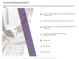 Customer Requirements Business Management Ppt Powerpoint Presentation Layouts Images