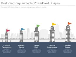 Customer Requirements Powerpoint Shapes