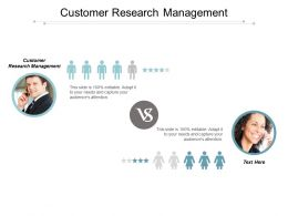 Customer Research Management Ppt Powerpoint Presentation Layouts Skills Cpb