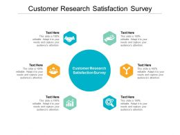 Customer Research Satisfaction Survey Ppt Powerpoint Presentation Infographics Example File Cpb