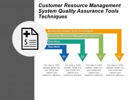 Customer Resource Management System Quality Assurance Tools Techniques Cpb