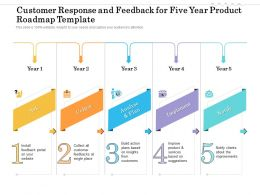 Customer Response And Feedback For Five Year Product Roadmap Template