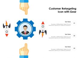 Customer Retargeting Icon With Gear