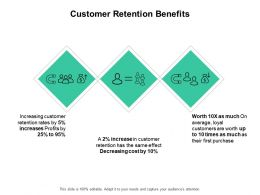 Customer Retention Benefits Communication Ppt Powerpoint Presentation Infographics Gridlines