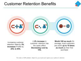 Customer Retention Benefits Increases Decreasing Ppt Powerpoint Presentation File