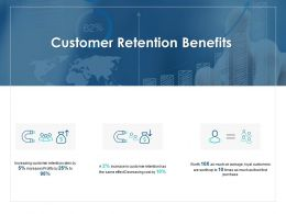 Customer Retention Benefits Percentage Ppt Powerpoint Presentation Icon Graphics
