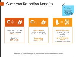 Customer Retention Benefits Powerpoint Presentation Examples