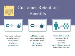 Customer Retention Benefits Powerpoint Slide Designs