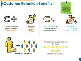 Customer Retention Benefits Powerpoint Templates