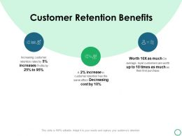 Customer Retention Benefits Ppt Powerpoint Presentation Icon Outline