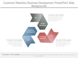 Customer Retention Business Development Powerpoint Slide Backgrounds