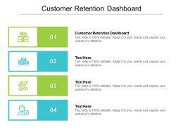 Customer Retention Dashboard Ppt Powerpoint Presentation Icon Format Cpb
