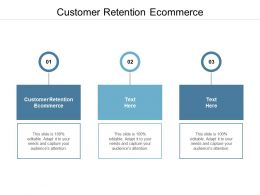 Customer Retention Ecommerce Ppt Powerpoint Presentation File Images Cpb