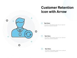 Customer Retention Icon With Arrow