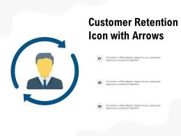 Customer Retention Icon With Arrows