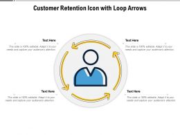 Customer Retention Icon With Loop Arrows