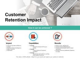 Customer Retention Impact Ppt Powerpoint Presentation Pictures Introduction