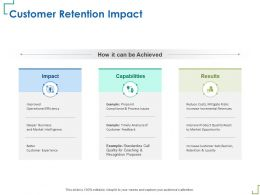 Customer Retention Impact Timely Analysis M346 Ppt Powerpoint Presentation Professional Show