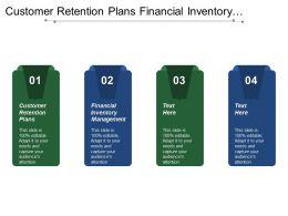 Customer Retention Plans Financial Inventory Management Strategic Marketing