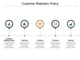 Customer Retention Policy Ppt Powerpoint Presentation Visual Aids Portfolio Cpb
