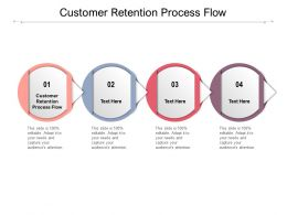 Customer Retention Process Flow Ppt Powerpoint Presentation File Image Cpb
