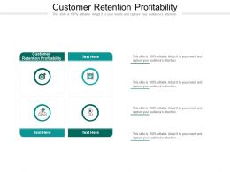 Customer Retention Profitability Ppt Powerpoint Presentation Model Icons Cpb