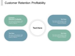 Customer Retention Profitability Ppt Powerpoint Presentation Summary Background Images Cpb