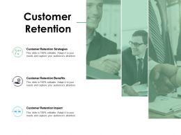 Customer Retention Strategies Benefits Ppt Powerpoint Presentation Slides Sample